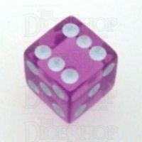 Koplow Transparent Orchid Square Cornered 16mm D6 Spot Dice