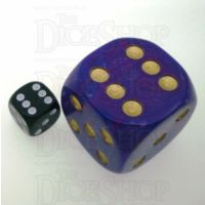 D&G Interferenz Purple MASSIVE 36mm D6 Spot Dice