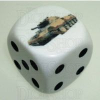 D&G Tank Logo 22mm D6 Dice British Crusader(4) - Discontinued