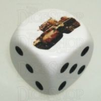 D&G Tank Logo 22mm D6 Dice British Valentine (6) - Discontinued