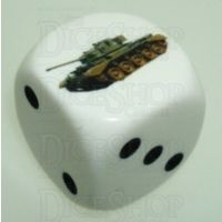 D&G Tank Logo 22mm D6 Dice British Comet (9) - Discontinued