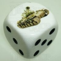 D&G Tank Logo 22mm D6 Dice Russian JS-II (10) - Discontinued