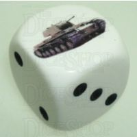 D&G Tank Logo 22mm D6 Dice British Cruiser Mk2 (11) - Discontinued