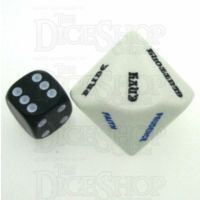 Koplow Opaque White Virtues and Sins JUMBO D14 Dice