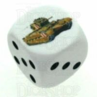 D&G Tank Logo 22mm D6 Dice (17) - Discontinued