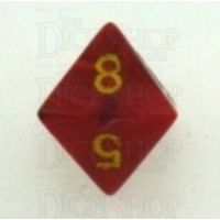 Chessex Vortex Red & Yellow D8 Dice - Discontinued