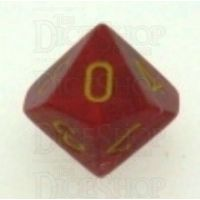 Chessex Vortex Red & Yellow D10 Dice - Discontinued