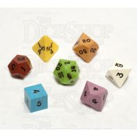 CLEARANCE GameScience Opaque Ugly Seconds Ink 7 Dice Polyset