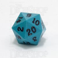 GameScience Opaque Turquoise & Black Ink D20 Dice