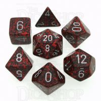 Chessex Speckled Silver Volcano 7 Dice Polyset
