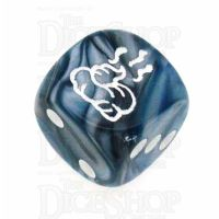 Chessex Lustrous Slate SHIT Logo D6 Spot Dice