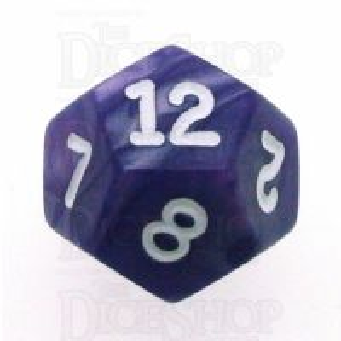 Koplow Pearl Purple D12 Dice