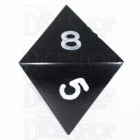 GameScience Opaque Coal Black & White Ink D8 Dice