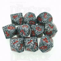Chessex Speckled Granite 10 x D10 Dice Set