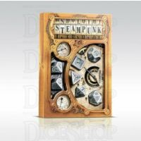 Q Workshop Steampunk Metal 7 Dice Polyset