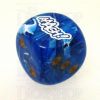 Chessex Vortex Blue AAAGH Logo D6 Spot Dice