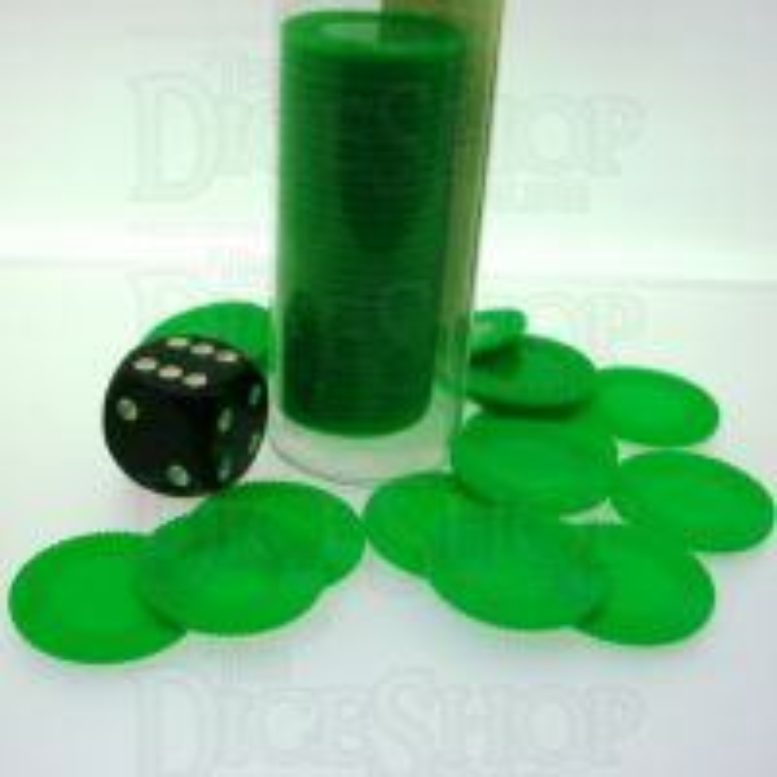 Koplow Casino Stacking Poker Chips Green x 50
