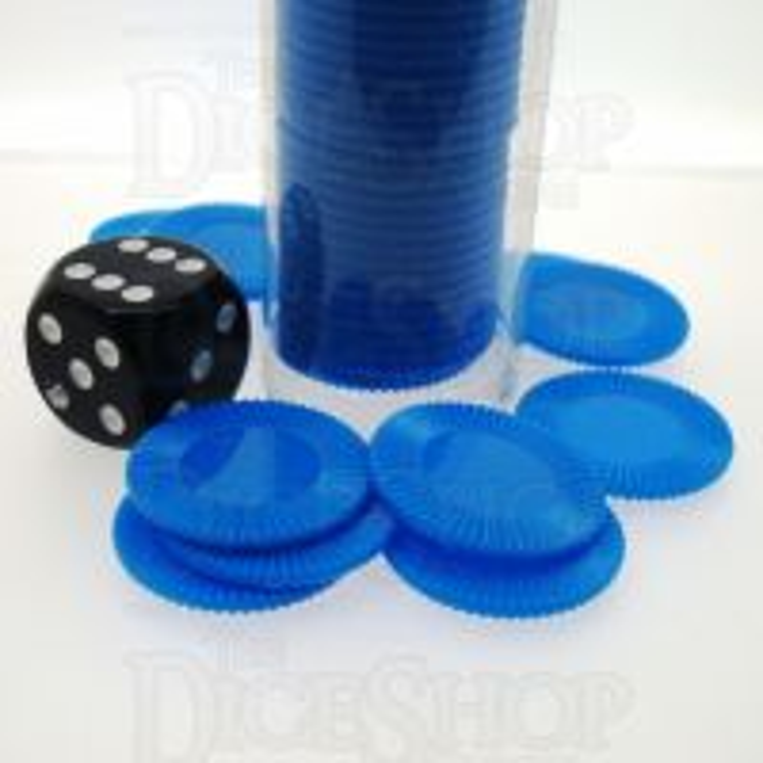Koplow Casino Stacking Poker Chips Blue x 50
