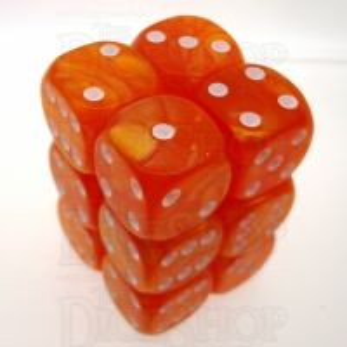 CLEARANCE Pearl Orange 12 x D6 Dice Set