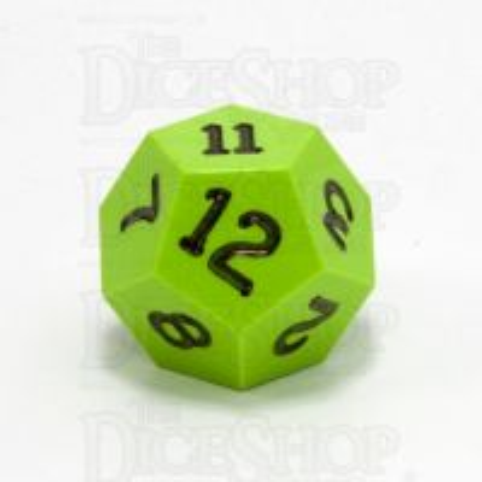 GameScience Opaque Lime & Black Ink D12 Dice