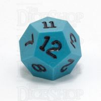 GameScience Opaque Turquoise & Black Ink D12 Dice