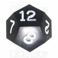 GameScience Opaque Coal Black & White Ink D12 Dice