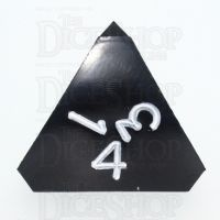 GameScience Opaque Coal Black & White Ink D4 Dice