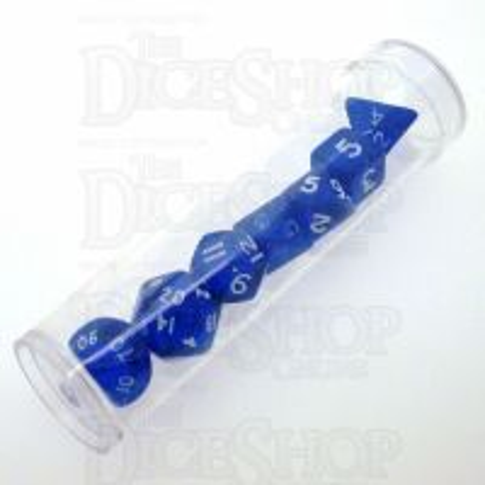 D&G Gem Blue MINI 10mm 7 Dice Polyset
