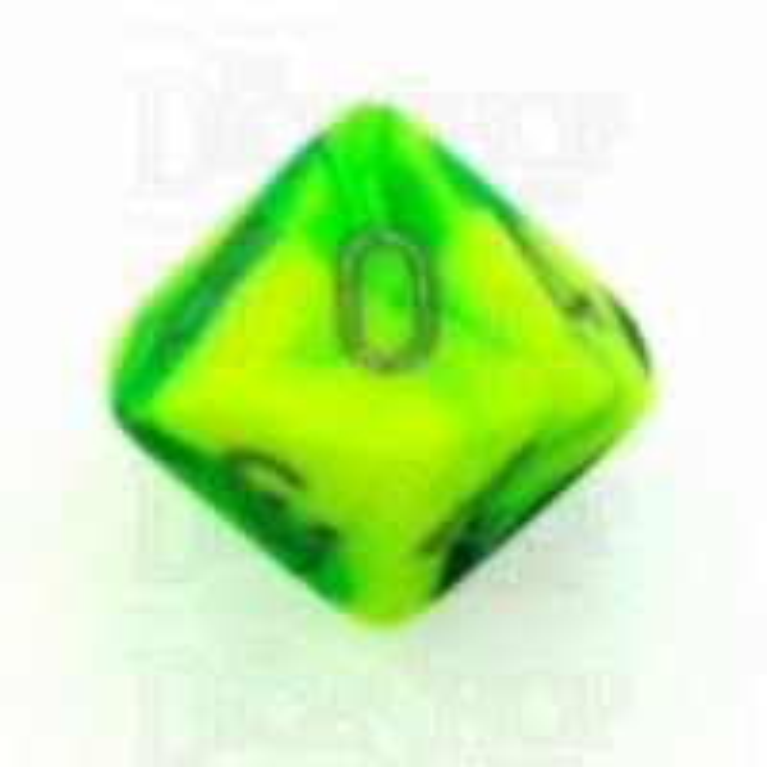 Chessex Gemini Green & Yellow D10 Dice