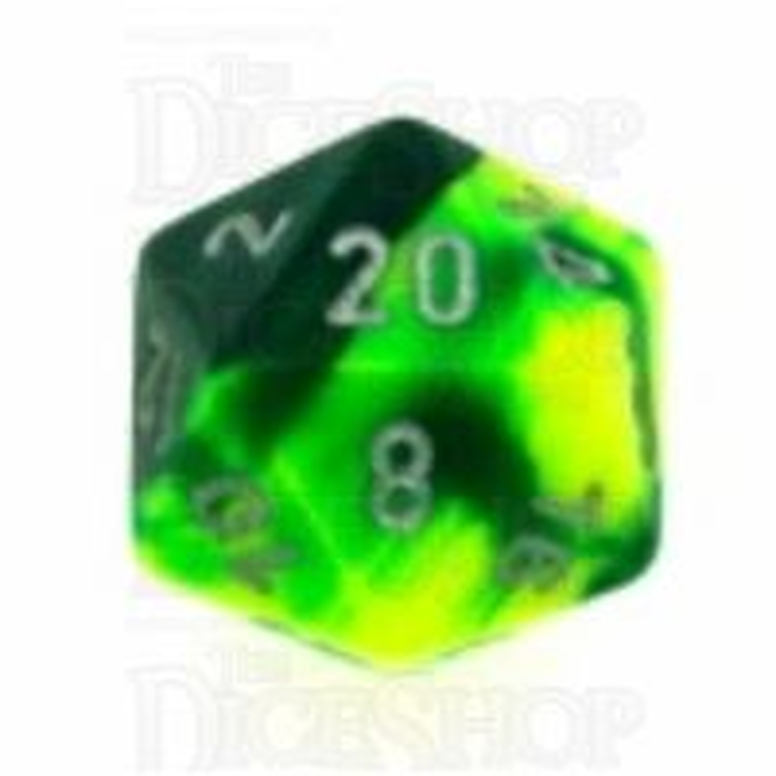 Chessex Gemini Green & Yellow D20 Dice