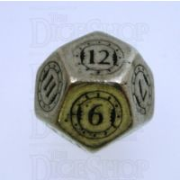 Q Workshop Steampunk Metal D12 Dice