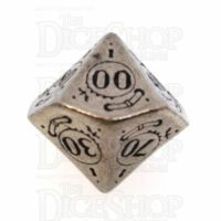 Q Workshop Steampunk Metal Percentile Dice