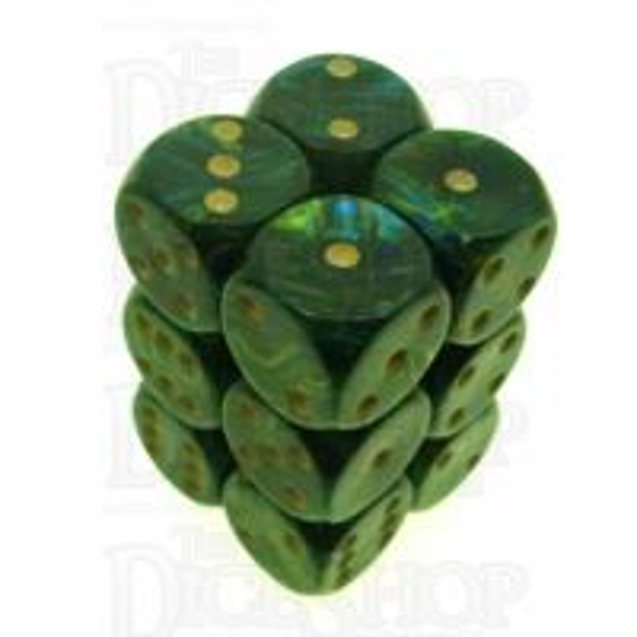 D&G Magma Green 12 x D6 Dice Set - Discontinued
