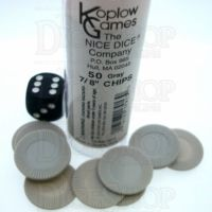 Koplow Casino Stacking Poker Chips Grey x 50