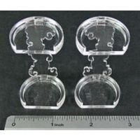 LITKO Flying Figure Stands 25mm Round x 2 (AFS047)