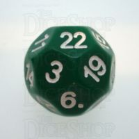 Impact Opaque Green & White D22 Dice
