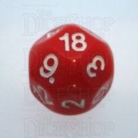 Impact Opaque Red & White D18 Dice
