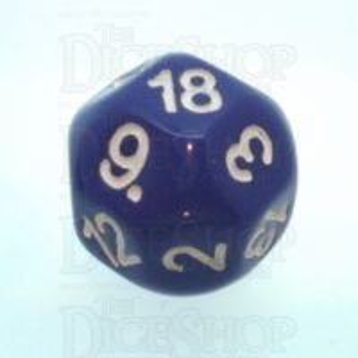 Impact Opaque Purple & White D18 Dice