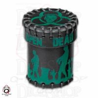 Q Workshop Zombie Black Leather Dice Cup & Holder with Lid