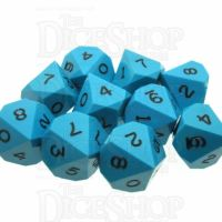 GameScience Opaque Turquoise & Black Ink 10 x D10 Dice Set