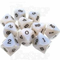 LTD EDITION GameScience Blue Opal & Black Ink 10 x D10 Dice Set