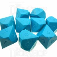 GameScience Opaque Turquoise 10 x D10 Dice Set