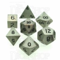 TDSO Metal Antique Silver Finish 7 Dice Polyset