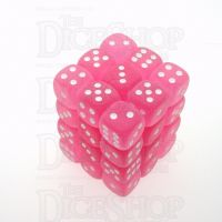 Chessex Frosted Pink & White 36 x D6 Dice Set