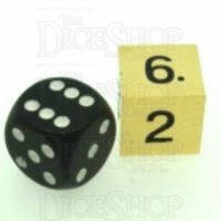 TDSO Metal Polished Gold Finish JUMBO D6 Dice