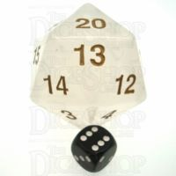 Koplow Pearl White Gold MASSIVE Countdown 55mm D20 Dice