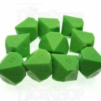 GameScience Opaque Lime 10 x D10 Dice Set