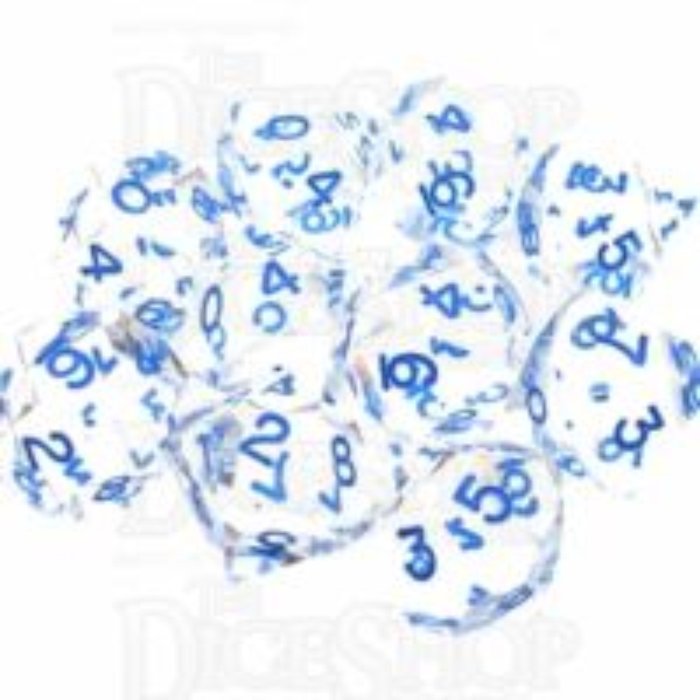 GameScience Gem Diamond & Blue Ink 10 x D10 Dice Set