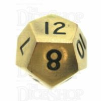 TDSO Metal Antique Gold Finish D12 Dice