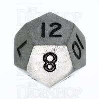 TDSO Metal Antique Silver Finish D12 Dice